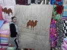 在霍尔果斯 市场的冬季毛毯